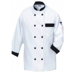 Chef Coat White With Black Trimmings