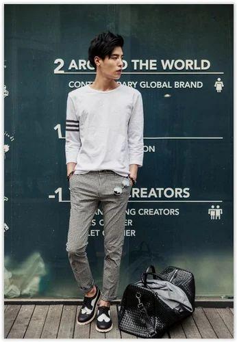 Blue Xxl Korean Fashion Urban Street Style Men S T Shirt Rs 350