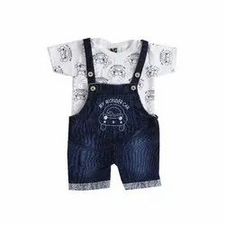 Forever Young Cotton, Denim Newborn Baby Dungarees