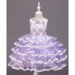 Kids Designer Purple Gown