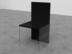 Acrylic Black Transparent Chair