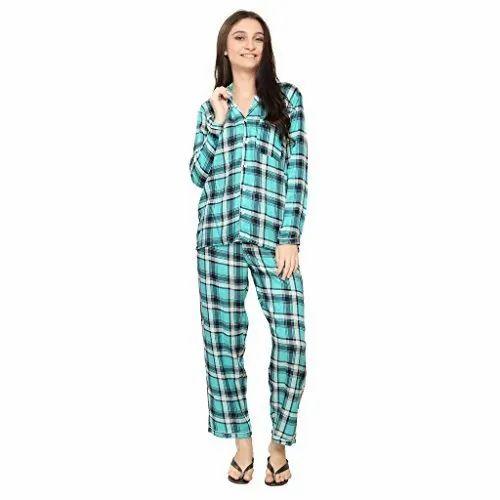 Full Sleeve Cotton Girls Night Suit, Size: XL