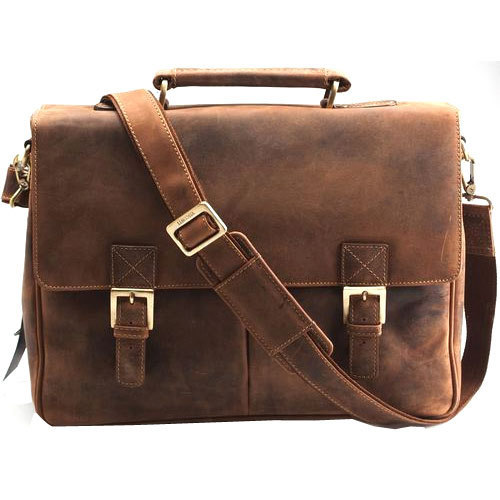 Brown Leather Side Bag
