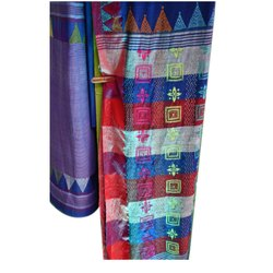Kantha Stitch Tussar Saree
