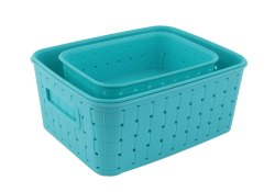 Food Storage Container 062 Smart Baskets For Storage(Set Of 3) Sky Blue