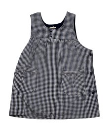 Special Stock Offer in Japan Market - Multi Color Checked Kappogi sleeveless apron