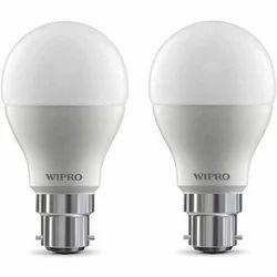 Round Cool Daylight Wipro LED Bulb, Base Type: B22