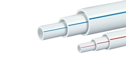 White UPVC Round Pipe, Size: 1/2 inch, Length: 3 m