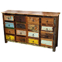Reclaimed Wood Multi Color Chest Drawer