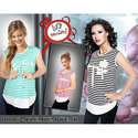 Girls Cotton Printed Sleeveless Stretchable Top, Size: S, M & L
