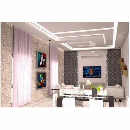 living room false ceiling at rs 100 square feet fibreglass
