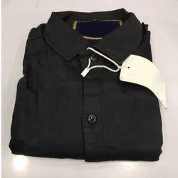 Plain Mens Cotton Black Shirts