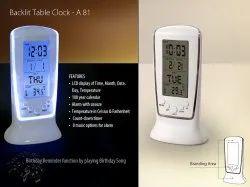 OLIVIA Digital Beautiful Table Clock, For Office, Size: Standard