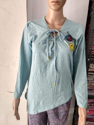 9bd76d56e0e Ladies Hosiery Full Sleeves Designer Top