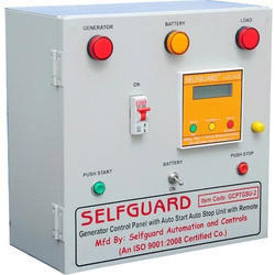 Mild Steel Generator Control Panel With Auto Start Auto Stop Unit With Remote