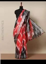 Party Wear Printed Pure Cotton Linen Saree