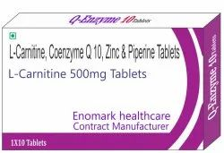 tablets L-carnitine Coenzyme Q10 Zinc And Pipenine, Packaging Size: 10x10 , Packaging Type: alu