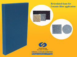 Ceramic Filter Foam. Reticulated foam sheet
