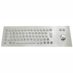 Stainless Steel Industrial USB Metal Keyboard with Trackball or TouchPAD, Model Number: Aat-603tb