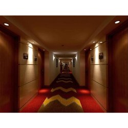 Woolen Printed Hotel Hall Designer Floor Carpet