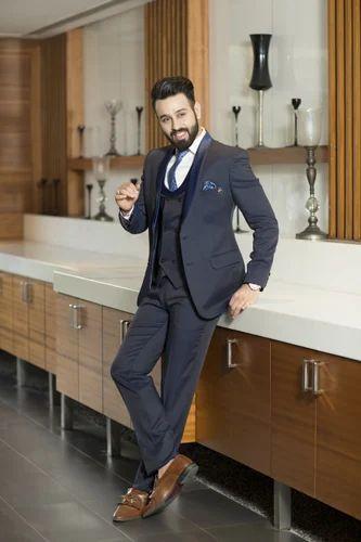 98aa24247af Amador Blue Mens 5 Piece Suit