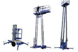 Aluminum Aerial Work Platform Double Mast
