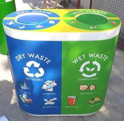 FRP Duo Dustbin With Swing Lid