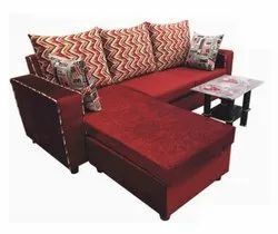 Velvet L Shaped Sofa Set