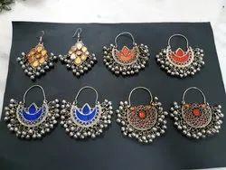 Brass Hoops Afghan Kuchi Earrings