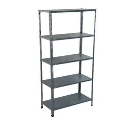 MS Slotted Angle Steel Rack, 3*1.5 Feet, Height: 7 Feet