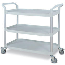 Stainless Steel Black Utility Trolley, Loading Capacity : 0-50 & 50-100 kg