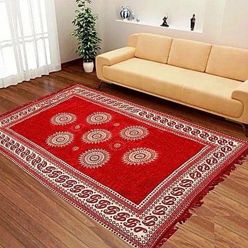 Printed Rectangular Chenille Room Carpet, Size/Dimension: 5 X 7 Feet