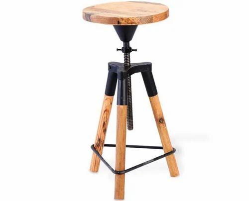 Wooden 3 Leg Bar Stool