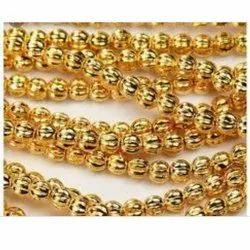 Golden Plastic Beads