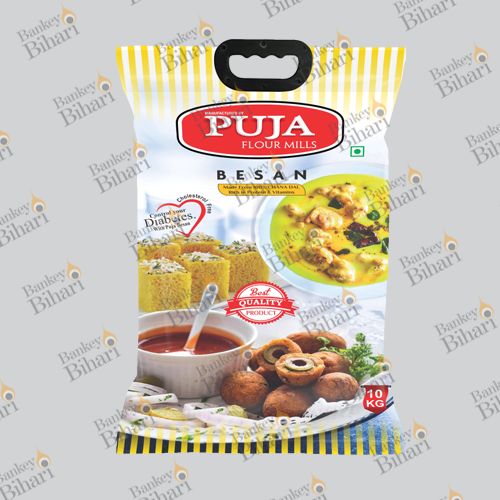 BOPP Laminated PP Woven Fabric Printed Besan Packaging Bags, Capacity: 5-35 Kg