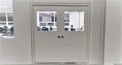 Glazed Steel Door