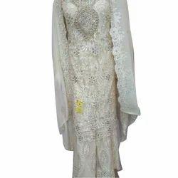 Net Ladies Embroidery Palazzo Suit