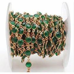 Gemstone Beaded Chain, Packaging Type: Packet