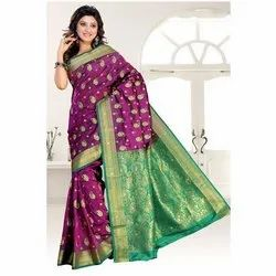 Fancy Silk Handwork Saree