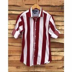 Collar Neck Cotton Men's Casual Shirt