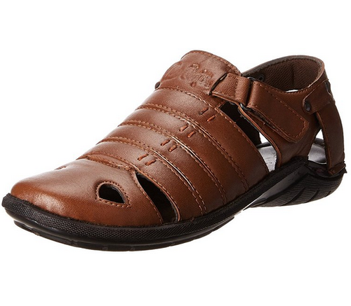 1ee5d7b349f Tan Lee Cooper Men  s Leather Sandals And Floaters LC1930