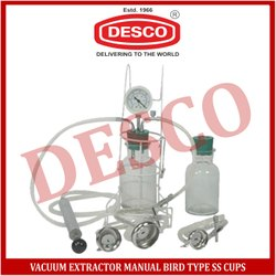 Vacuum Extractor Manual Bird Type SS Cups
