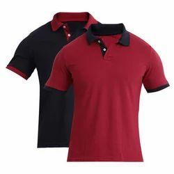 Small & Large Plain Men's Collar T Shirt