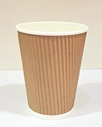 12 OZ ( 360ML ) Ripple Disposable Paper Cup
