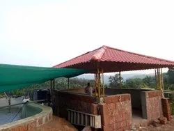UPVC Spanish Tile Roofing Sheets Kerala type and Pyramid Fabrication Work
