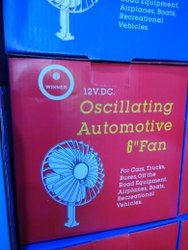 Winner 6 Inch Oscillating Automotive DC Car Fan