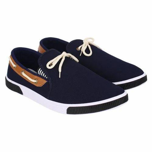 Men Canvas Casual Mens Navy Blue Shoes