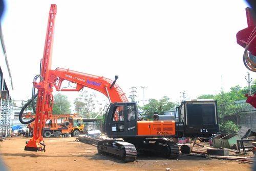 Excavator Mounted Blast Hole Drilling Machine
