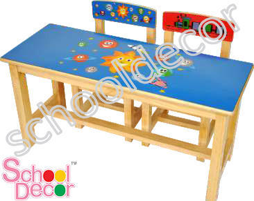 Rubber Wood Table and 2 Chair Set