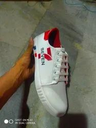 Canvas Casual Wear White Printed Sneaker Shoes, Size: 6-10